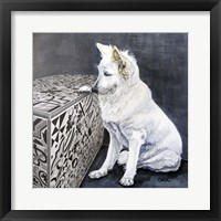 Framed Playful Pup I