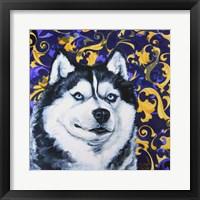 Framed Playful Pup IV