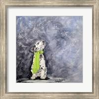 Framed Playful Pup VII