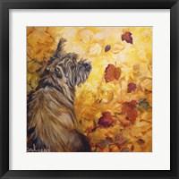 Framed Playful Pup VIII