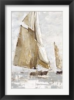 Framed Golden Sails I