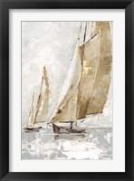 Framed Golden Sails II