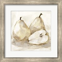 Framed White Pear Study I
