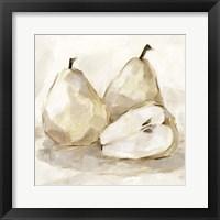 Framed White Pear Study I