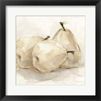 Framed White Pear Study II