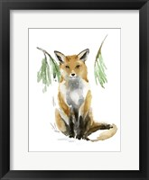 Framed Snowy Fox I