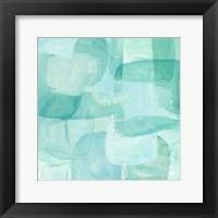 Framed Sea Glass Reflection I