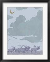 Framed Pop Art Elk I