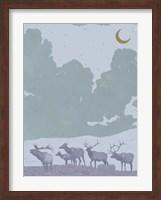 Framed Pop Art Elk II