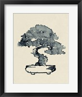 Framed Indigo Bonsai I