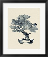 Framed Indigo Bonsai III