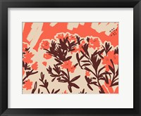 Framed Red Rhododendron II
