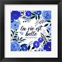 Framed Blue Beautiful I