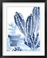 Framed Indigo Succulent I
