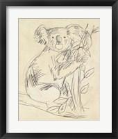 Framed Outback Sketch I