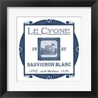 Framed Indigo Wine Labels VIII