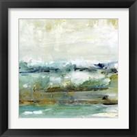 Framed Aqua Coast I