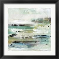Framed Aqua Coast II