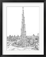 Framed Dubai in Black & White II