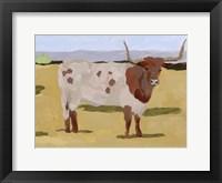 Framed Longhorn Cattle II