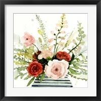 Framed Splashy Bouquet I