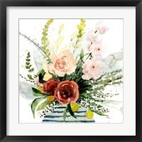Framed Splashy Bouquet II