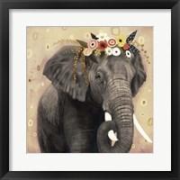 Framed Klimt Elephant I