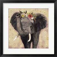 Framed Klimt Elephant II