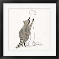 Framed Rascally Raccoon IV