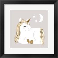 Framed Sleepy Unicorn II