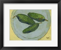 Framed Peppers on a Plate IV