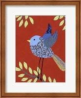 Framed Patterned Feathers III