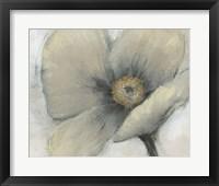Framed Single Cream Bloom I