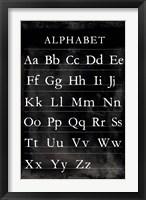 Framed Alphabet Chart