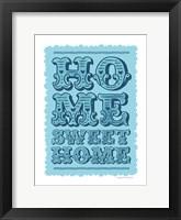 Framed Home Sweet Home Blue