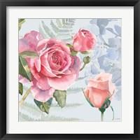 Framed Boho Bouquet V Blue