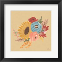 Framed Harvest Garden Flowers I