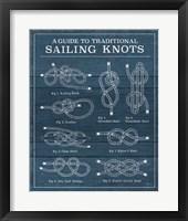 Framed Vintage Sailing Knots XIII
