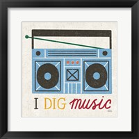 Retro Desktop Boom Box v2 Framed Print