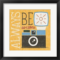 Retro Desktop Camera v2 Framed Print