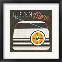 Retro Desktop Radio v2 Framed Print