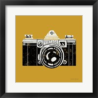 Framed Vintage Camera Yellow