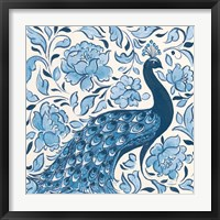Framed Peacock Garden IV v2