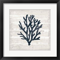 Framed Driftwood Coast VII Blue