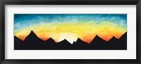 Framed Sunrise Over the Mountains