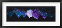 Framed Stars Over the Mountains )(purple)