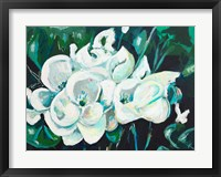 Framed Green into White Orchids