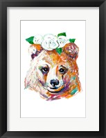 Framed Bear with Flower Crown