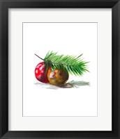 Framed Christmas Bulb on Pine