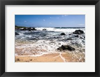 Framed Oahu Rocky Shores I